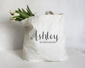 Personalized Bridesmaid Tote Bag, Custom Maid of Honor Tote Bag, Bridesmaid Bag, Custom Tote Bag, Personalized Wedding Party Tote Bag