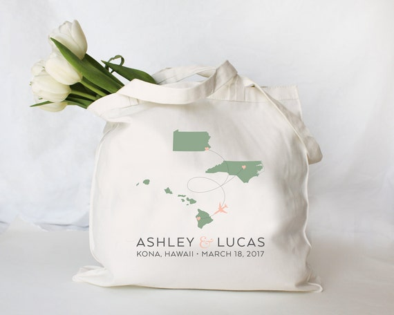 custom personalized destination wedding tote guest welcome etsy