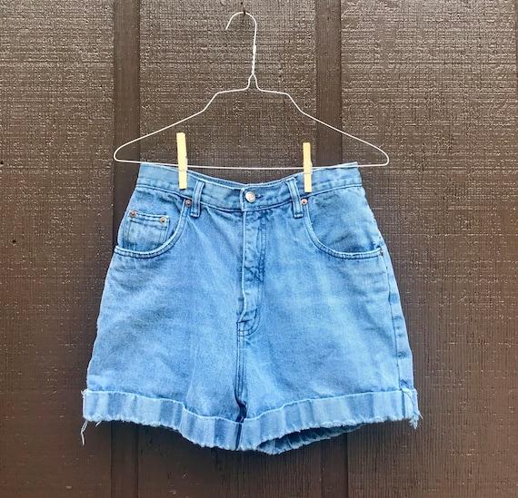 1970s High Waisted Denim Shorts