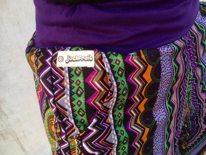 Jungle Fever Purple Unisex Crazy Pattern Festival Fresh Prince Style Boho Aztec Party Trousers Tracksuits Yoga JACKFRUIT Papaya Pants