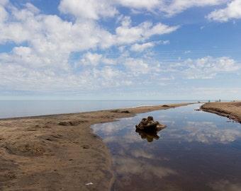 Sky Water Reflection, Lake Superior, Michigan Nature, Pure Beauty, Waterfront, Nature Photography