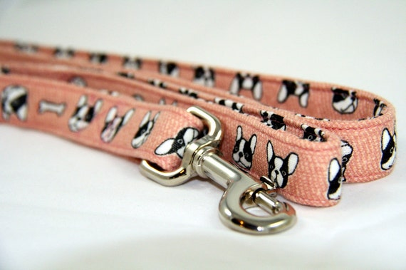 Collier pour chien rose Frenchie