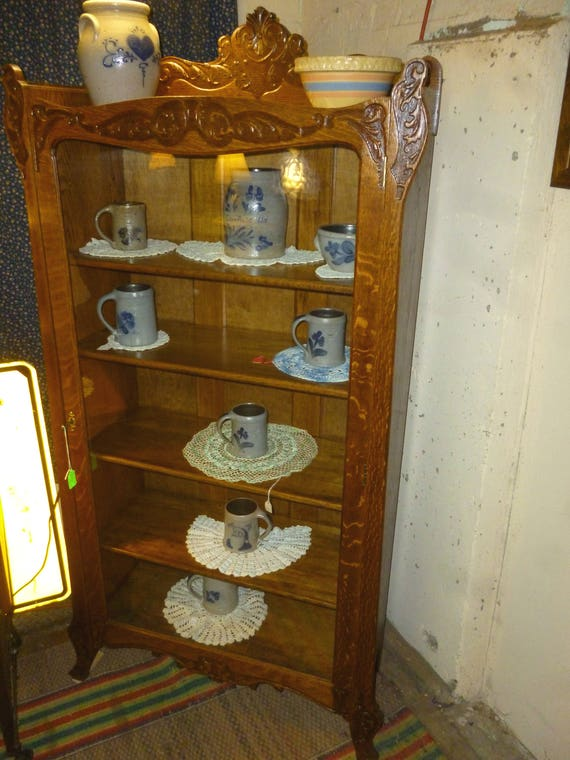 Bookcase Bookshelf Antique Oak Quarter Sawn Tiger