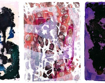 Printable Art for Collage, Journaling, and Mixed Media - Gel Prints, Set 2 (12 Images)