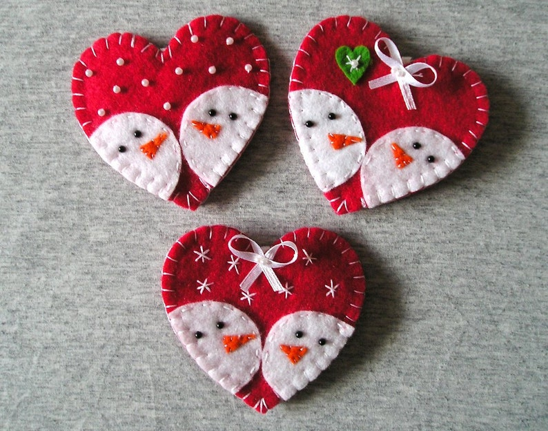 Fridge Magnets Christmas Felt Ornaments Kitchen Decor Etsy