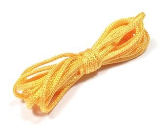 5 meters of 1.5 mm yellow orange braided polyester cord