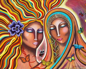 Loves Unconditionally - original painting by Julie Greer