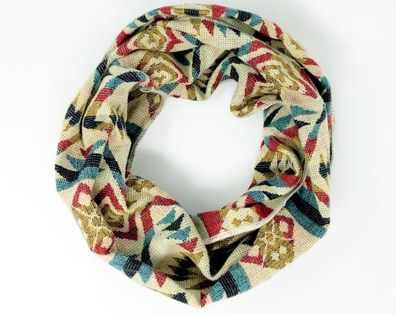 UNACHA | Tribal Infinity Scarf, Handcrafted & Vegan Friendly || 304