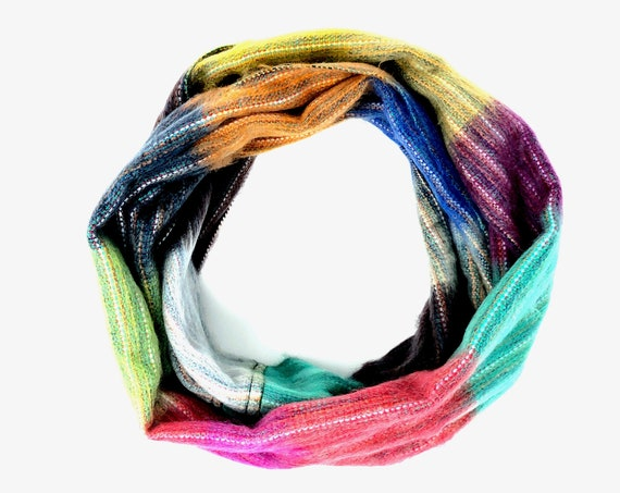 KUNKALLINA | Cozy Infinity Scarf, Handcrafted & Vegan Friendly || 009