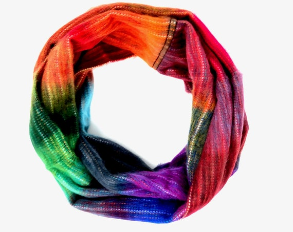 KUNKALLINA | Cozy Infinity Scarf, Handcrafted & Vegan Friendly || 007