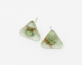 Achalau - Fused Glass Stud Earring
