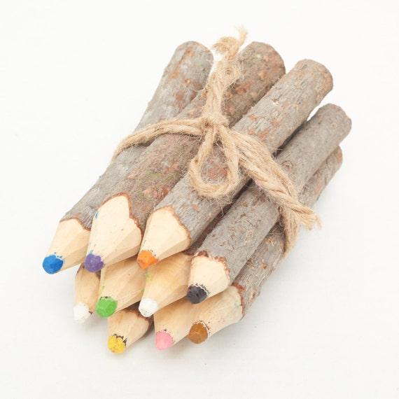 QIRU | Pine Crayon Set, Handcrafted & Vegan Friendly
