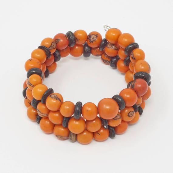 KIMSA | Acai + Coco Triple Coil Bracelet, Handcrafted & Vegan Friendly