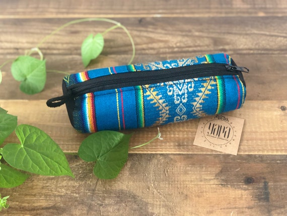 WAYAKA | Fabric Pencil Case / Cosmetic Bag, Handcrafted & Vegan Friendly