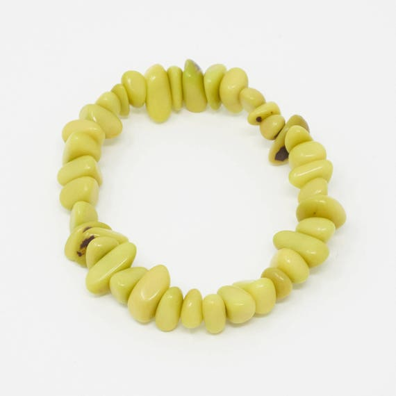 SHARU | Tagua Pebble Bracelet, Handcrafted & Vegan Friendly