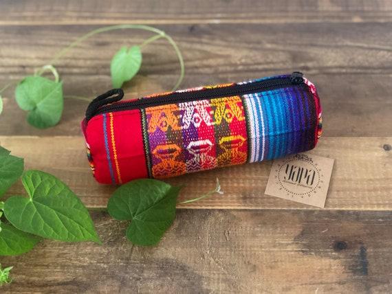 WAYAKA | Fabric Pencil Case / Cosmetic Bag, Handcrafted & Vegan Friendly