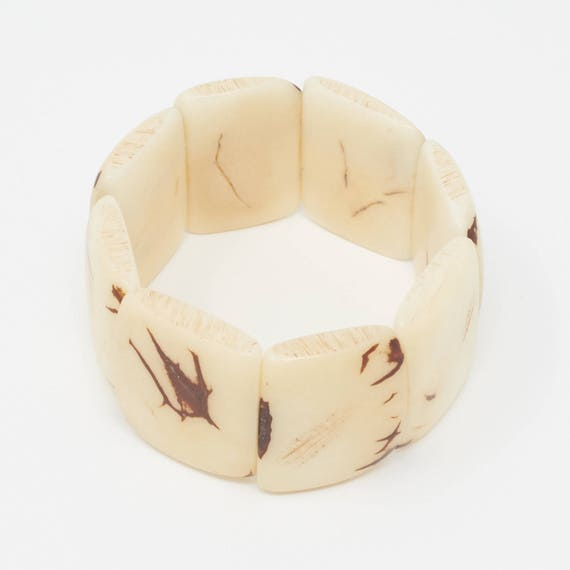 SANU | Tagua Plaque Bracelet, Handcrafted & Vegan Friendly