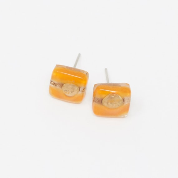 LIRPO | Fused Glass Stud Earrings, Handcrafted & Vegan Friendly