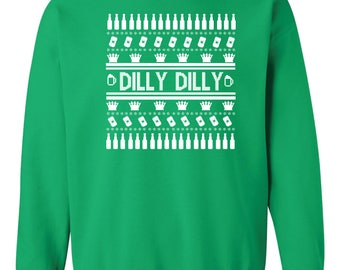 Dilly Dilly Ugly Christmas Sweater Crew Sweatshirt