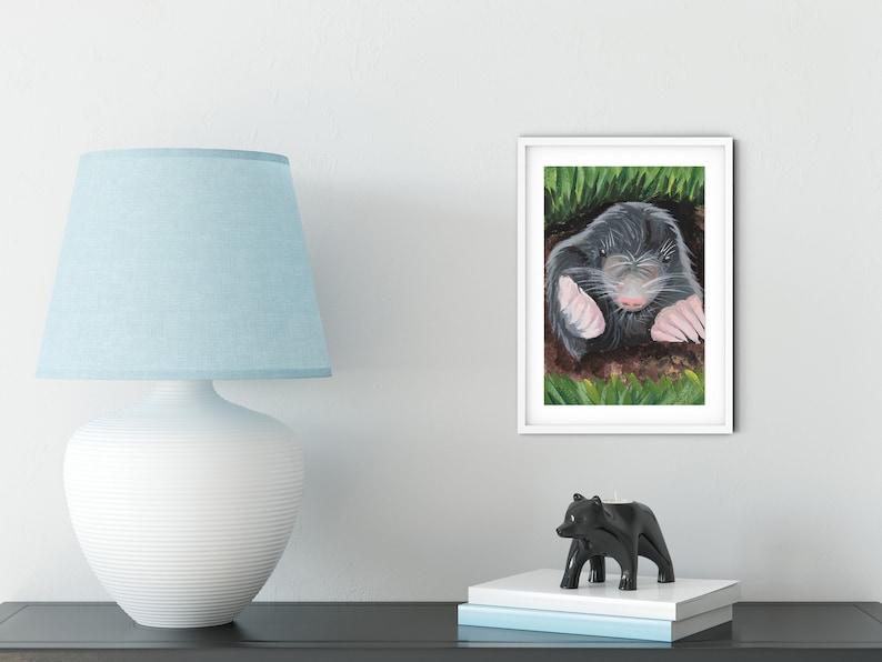 9x6 Mole Painting Print