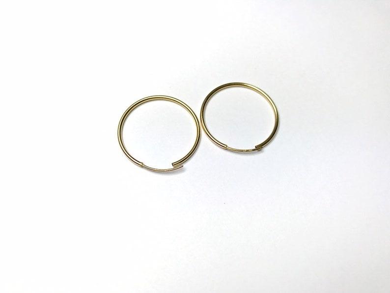 14ct Gold Hoop Earrings 24mm