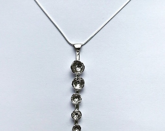 Stering Silver Organic Droplet Pendant
