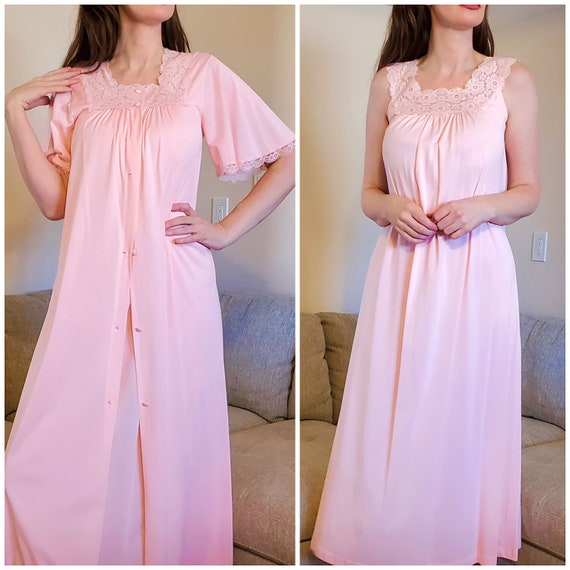 Lorraine Pretty Pink Nylon Floral Satin Lace Peign