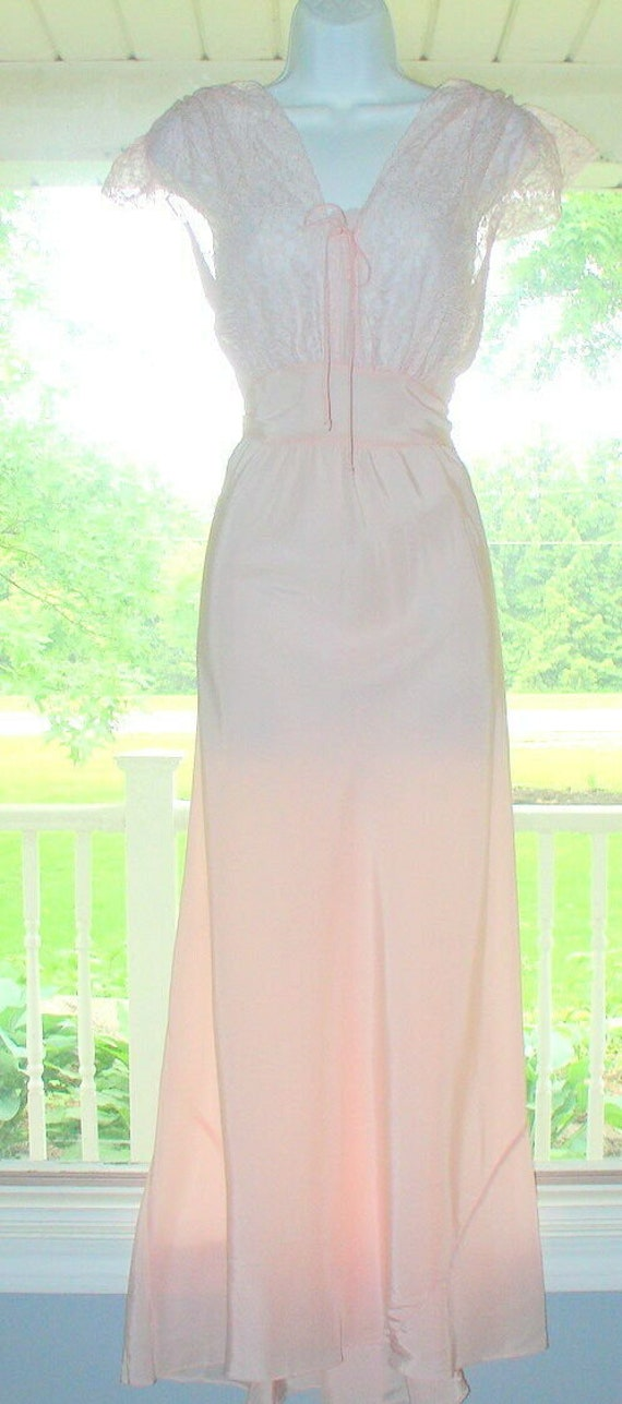 1930s Pink Nightgown/Dress/Lingerie/Bias Gown, So… - image 5