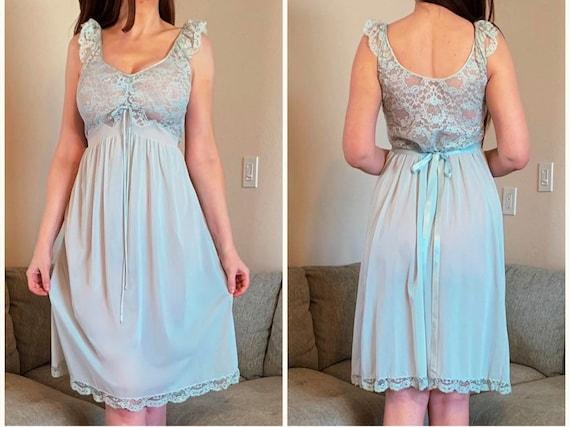 Vintage Fischer Heavenly Nightgown 40s 50s Lingeri