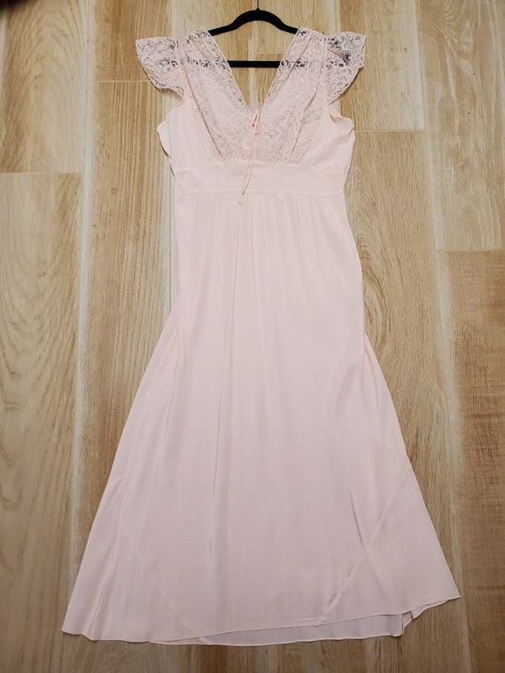 1930s Pink Nightgown/Dress/Lingerie/Bias Gown, So… - image 3