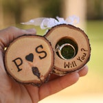 Proposal Ring Box Marry Me Proposal Box Groomsmen Proposal Proposal Proposal Ideas Proposal Ring Rustic Log Wooden Tree Slice Marry Me Ring