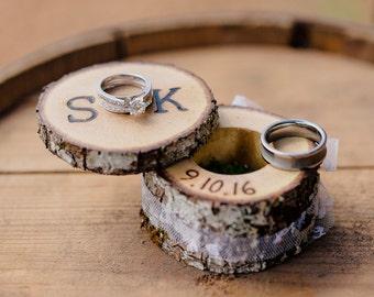 Personalized Custom Wedding Date Ring Bearer Gift BE Lapel Ivory Burlap Navy Blue Rustic Wedding Ring Bearer Security Badge Pin