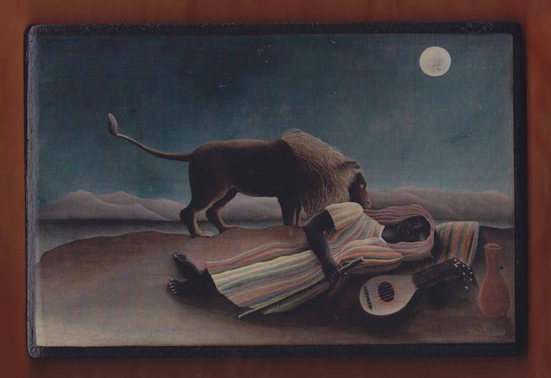 The Sleeping Gypsy -Henri Rousseau MoMA 1897 New York.FREE SHIPPING