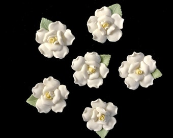 Porcelain flowers etsy six 125 porcelain bisque roses white yellow porcelain rose for crafts ceramic porcelain flowers shabby chic rose quantity discounts mightylinksfo