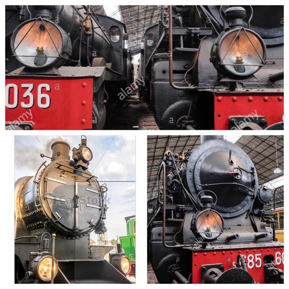 Rustic Black Train Engine Distressed Metal Wall Sculpture Railroad Home Decor