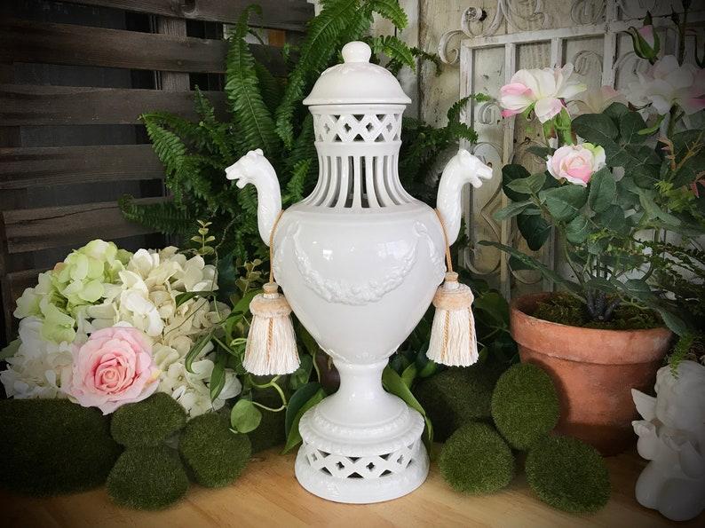 Nove Italy Porcelain Ceramic Urn Vase With Lid Rita Dal Pra Etsy