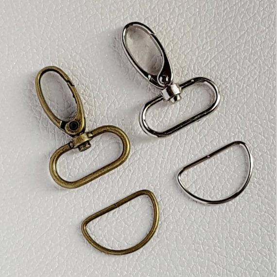 commercialisable style top chaussures de course 25mm - Mousqueton avec anneaux demi lune D ring porte clés en métal pour  lanières et sangles des sacs