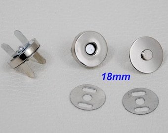 18 X 4 mm - button magnetic magnetic clasp for leather work bag or cardboard box