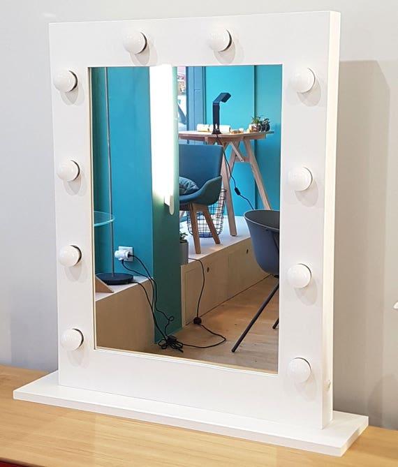 Miroir De Maquillage Lumineux Eclairage Integre Professionnel Tournage Studio Hollywood