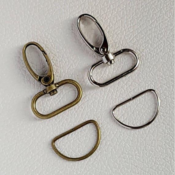 vraie affaire mieux choisir bon marché 25mm - Mousqueton avec anneaux demi lune D ring porte clés en métal pour sac