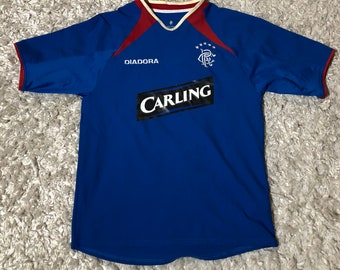 9cdaeec50 Diadora Scottish Glascow Rangers Soccer Jersey Shirt Small