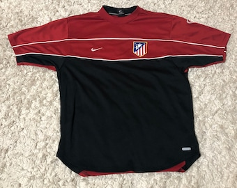 80b137116 Atletico Madrid Spanish Soccer team Warmup Top Jersey Large