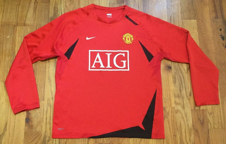 best website bbc5a 86b65 Manchester United Soccer Warmup Top Jersey Size Large