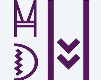 Art Deco Monogram Decal