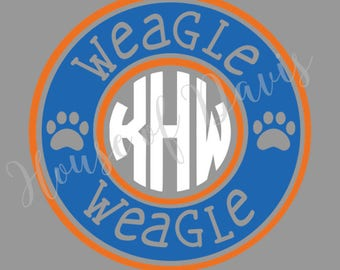 Auburn weagle weagle monogram decal