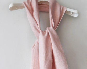 Handwoven scarf, womans woven scarf, pink scarf, angora scarf, light-pink scarf, womens scraf, spring scarf,