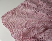 Knitted tweed light-pink shawl, tea rose shawl, merino shawl, winter wool shawl, gift for her, dusty rose shawl, women 39 s shawl, tweed shawl