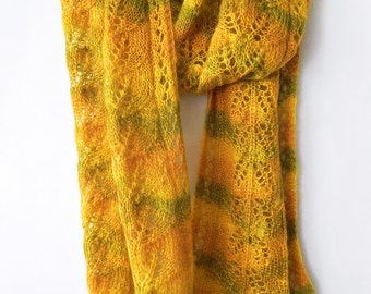 Knitted mohair wrap, knitted winter tippet, handknitted accessory, woman scarf, mohair tippet, mohair scarf, knitted scarf
