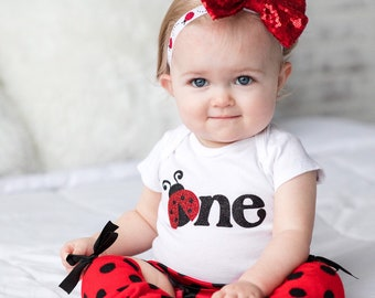 54134ee4c Ladybug birthday, ladybug shirt, ladybug onesie, bodysuit, birthday outfit, first  birthday, baby onesie, first birthday, birthday onesie