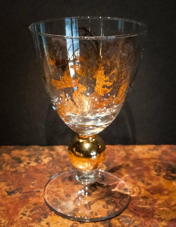 Wonderful Cherub Wine Glass with 24K Gold Detailed Cherubs
